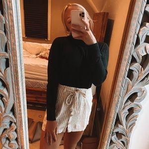 linen button up skirt w/ matching belt! make offer